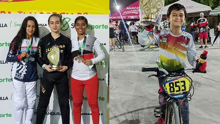 Cafeteros lograron  2 oros, 1 plata y 3 bronces, en nacional de BMX