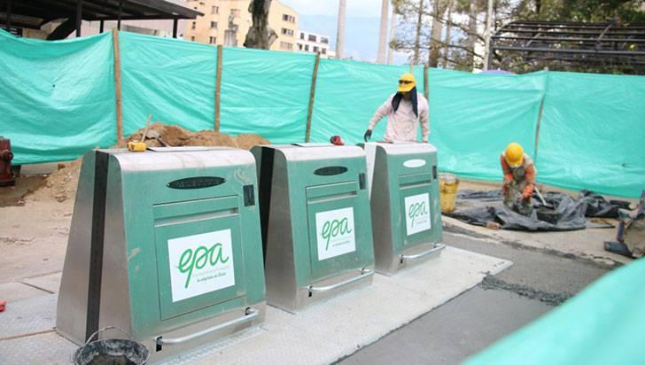 Contenedores subterráneos de basura en Armenia