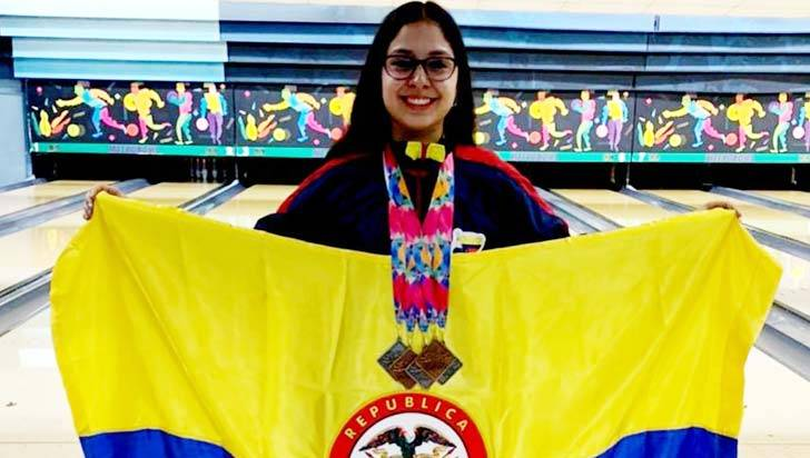 Mariana Jaramillo logró 4 medallas en el Guatemala Open de Bolos
