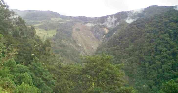 Cárcavas de Pijao, un riesgo inminente para la población