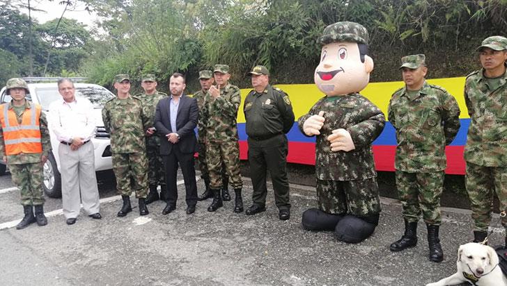 430 militares brindarán seguridad en vías del Quindío en Semana Santa
