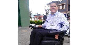 Jhon Fredy Hurtado, por la población con discapacidad