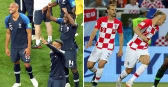 Estos son los uniformes que utilizarán Francia y Croacia en la final