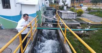 Sectores de Armenia sin abastecimiento de agua; alcalde verifica operatividad de planta de tratamiento
