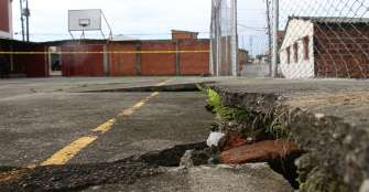 En colegio Nuestra Señora de La Soledad temen tragedia por terreno inestable
