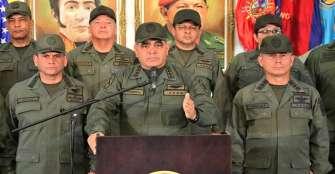 Mindefensa de Maduro amenaza con usar las armas ante levantamiento en Venezuela