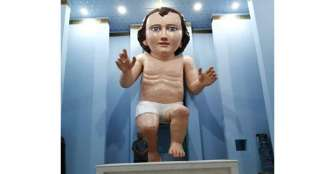 Figura del Niño Dios gigante causa furor en redes sociales