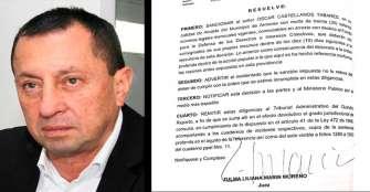Sancionan al alcalde de Armenia Óscar Castellanos por no cumplir con desalojo del espacio público