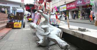 Escultura de la carrera 17 entre calles 19 y 18, Â¿objeto de vandalismo?