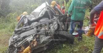 Un vehículo cae al abismo antes de 'La Virgen Negra' en La Línea
