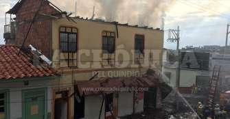 Se incendió 'La esquina  de Nacho' en Montenegro