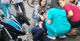 Mujer lesionada en accidente de tránsito