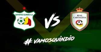 Juego Deportes Quindío-Real Cartagena de esta noche a puerta cerrada