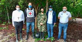 La guerrilla del Eln entregó a comisión humanitaria a militar secuestrada