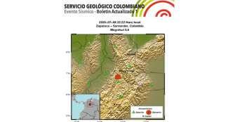 Sismo de magnitud 5,5 sacude el centro y norte del país sin dejar víctimas
