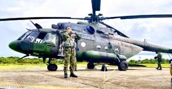 Helicóptero del Ejército desaparece con 6 tripulantes a bordo