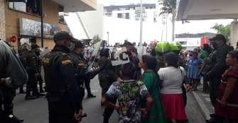 2 indígenas capturados y un menor de edad aprehendido por desmanes en la plaza de Bolívar