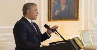 Duque reclama a las Farc cumplir sus compromisos con la verdad y reparación