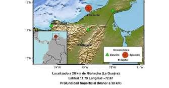 Un sismo de magnitud 4,4 sacude el norte de Colombia sin dejar víctimas
