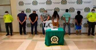 6 integrantes de 'Los Invasores' fueron capturados en el barrio Santander de Armenia