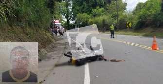 Motociclista perdió una pierna en accidente vial ocurrido en jurisdicción de La Tebaida