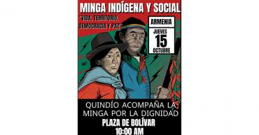 Minga indígena llega al Quindío