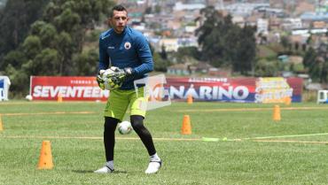 Diego Alejandro Martínez, el portero quindiano que también mete goles
