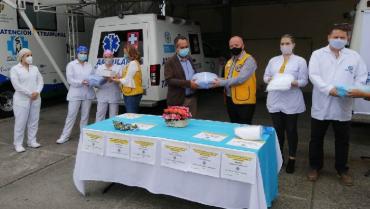 Club de Leones realizó donaciones en el Quindío