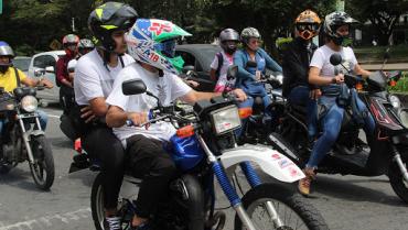 Motociclistas marcharán este lunes contra medida de pico y placa