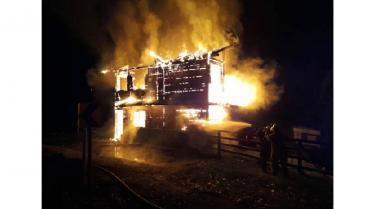 Pérdida total de la estructura en incendio en sector de Sierra Morena