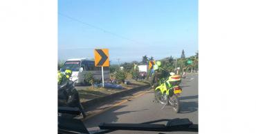 Menor de 12 años murió en accidente de tránsito en la autopista del Café