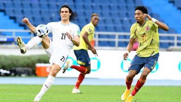 Colombia, sin argumentos, cayó ante una práctica Uruguay