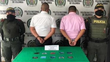 Capturados sujetos con alto prontuario delictivo en Armenia