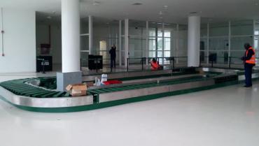 El Edén instaló banda usada para transporte de equipaje de vuelos internacionales