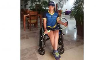 El tenis de campo me ha hecho creer en mí: Érika Andrea Vásquez Martínez