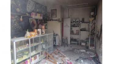 Incendio en local comercial en el centro de Armenia
