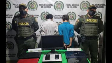 Capturados hombres que ingresaron a un almacén de Armenia para robar