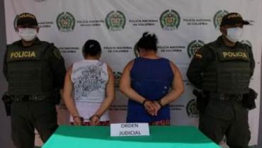 2 mujeres sentenciadas a prisión, capturadas en La Tebaida
