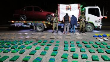 Incautaron 258 kilos de marihuana en la vía La Línea