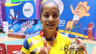 María Julieth Pérez, campeona de bádminton que representará a Quindío en juegos nacionales
