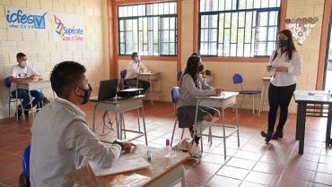 La alternancia escolar tuvo apertura primero en el tecnológico de Calarcá