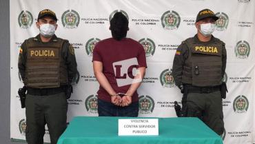 Cárcel a sujeto señalado  de lesionar a un policía  en el municipio de La Tebaida