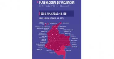 En Colombia se han vacunado 48.150 personas