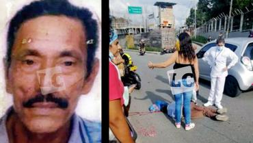 Adulto mayor murió tras ser arrollado por un motociclista cerca de Mercar