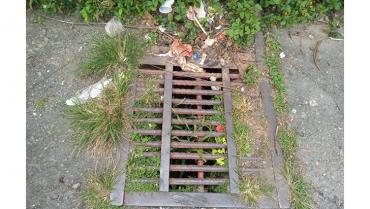 Alcantarillas taponadas por mal manejo de basuras