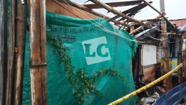 Lluvias ocasionan desplome de vivienda en barrio Las Colinas