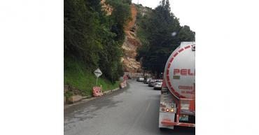 Por caída de material, cierre total de la vía Calarcá-Cajamarca