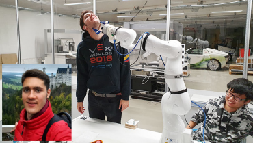 Un cuyabro que vuela alto con sus proyectos de robótica