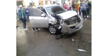 Accidente de tránsito en Filandia dejó un lesionado
