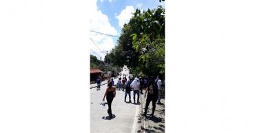 3 capturados y negocios cerrados en La Tebaida, luego de enfrentamientos entre el Esmad y los manifestantes